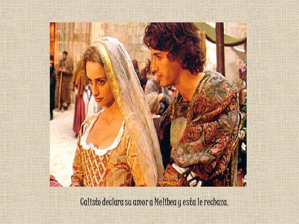 Calisto declara su amor a Melibea y esta le rechaza.