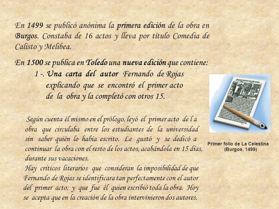 En 1500 se publica en Toledo una nueva edición que contiene: