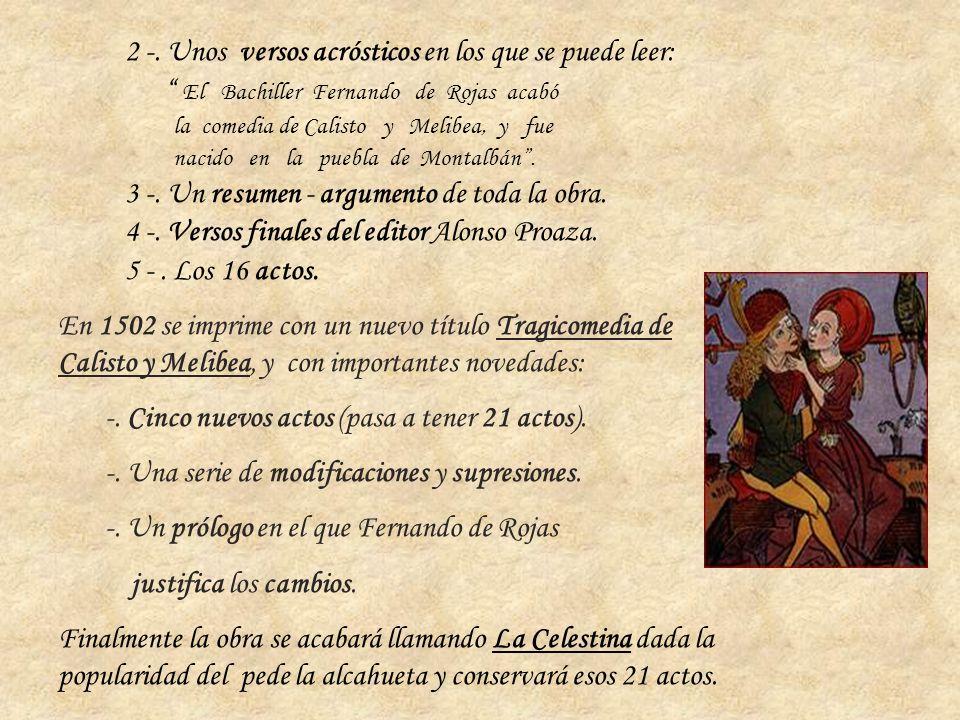 2 -. Unos versos acrósticos en los que se puede leer: