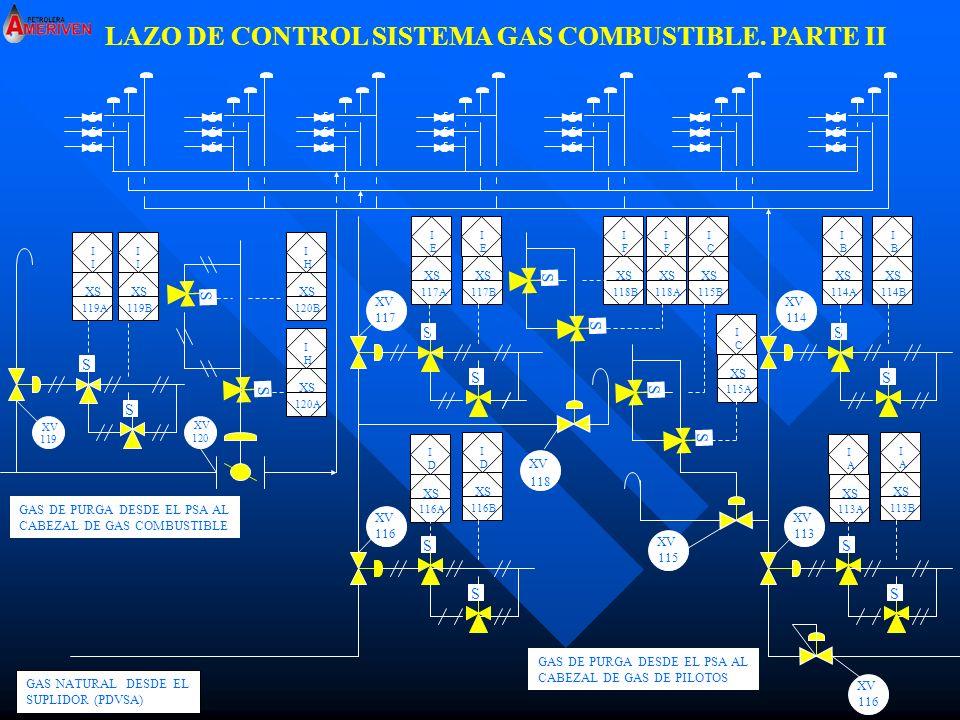 LAZO DE CONTROL SISTEMA GAS COMBUSTIBLE. PARTE II