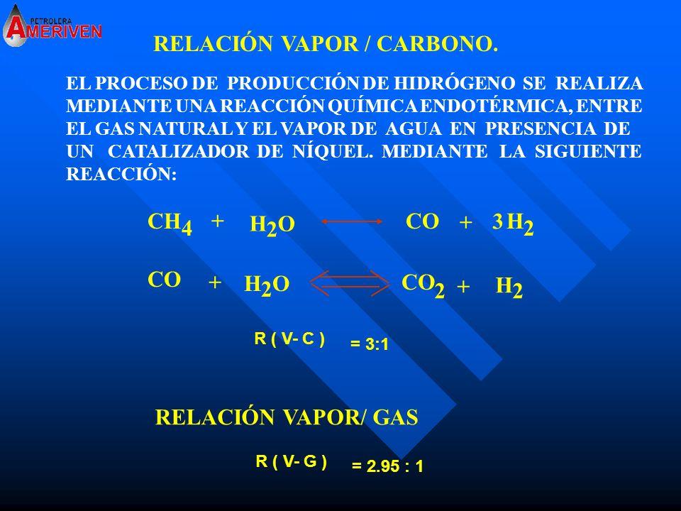 RELACIÓN VAPOR / CARBONO.