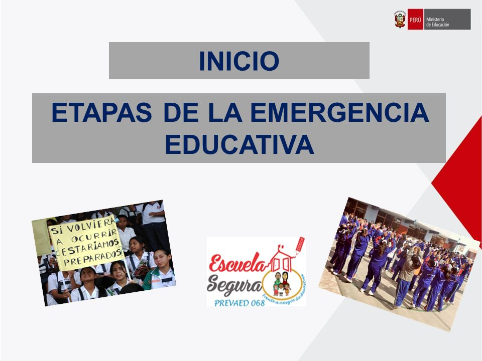 ETAPAS DE LA EMERGENCIA EDUCATIVA