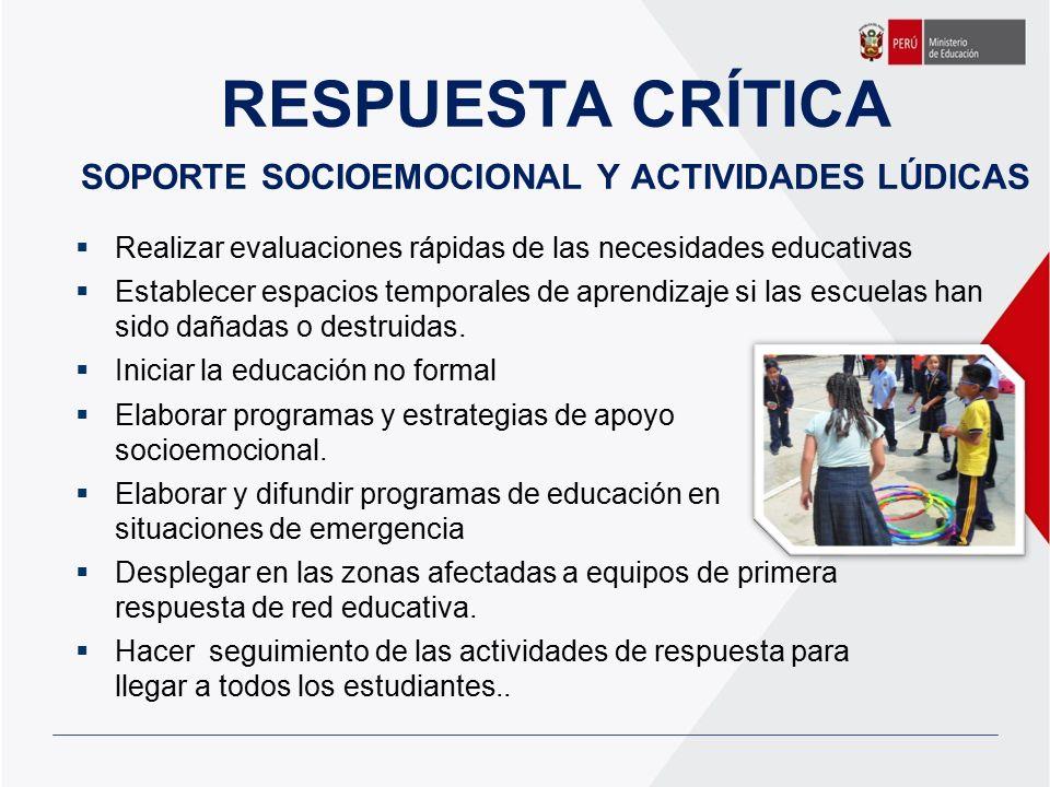 RESPUESTA CRÍTICA SOPORTE SOCIOEMOCIONAL Y ACTIVIDADES LÚDICAS