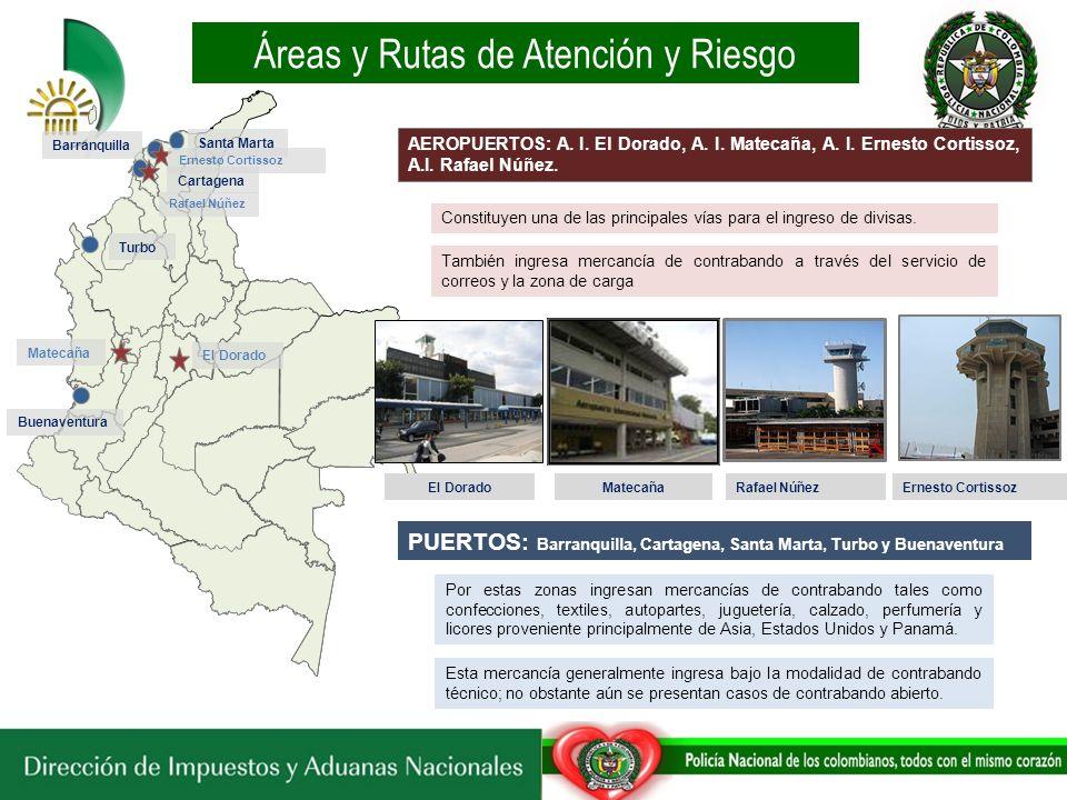 Áreas y Rutas de Atención y Riesgo