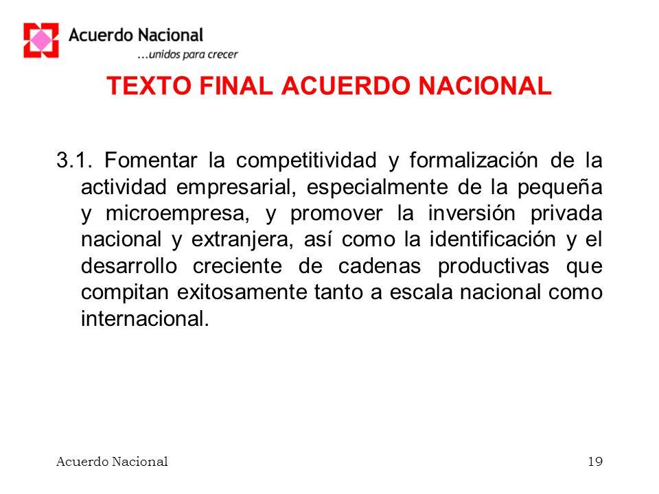 TEXTO FINAL ACUERDO NACIONAL