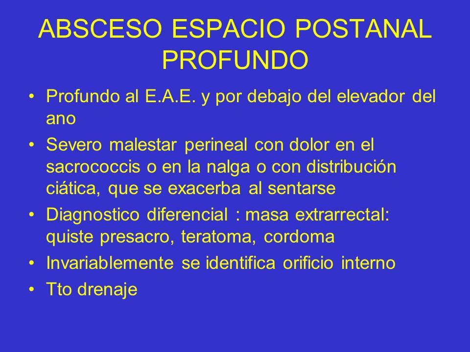 ABSCESO ESPACIO POSTANAL PROFUNDO