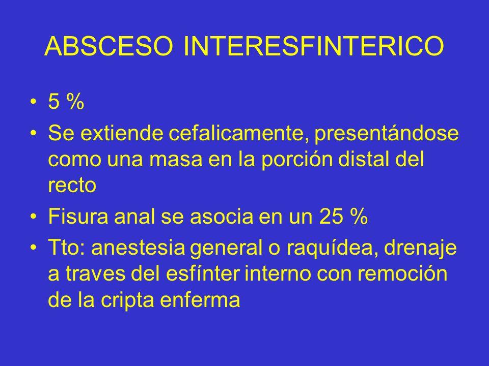 ABSCESO INTERESFINTERICO
