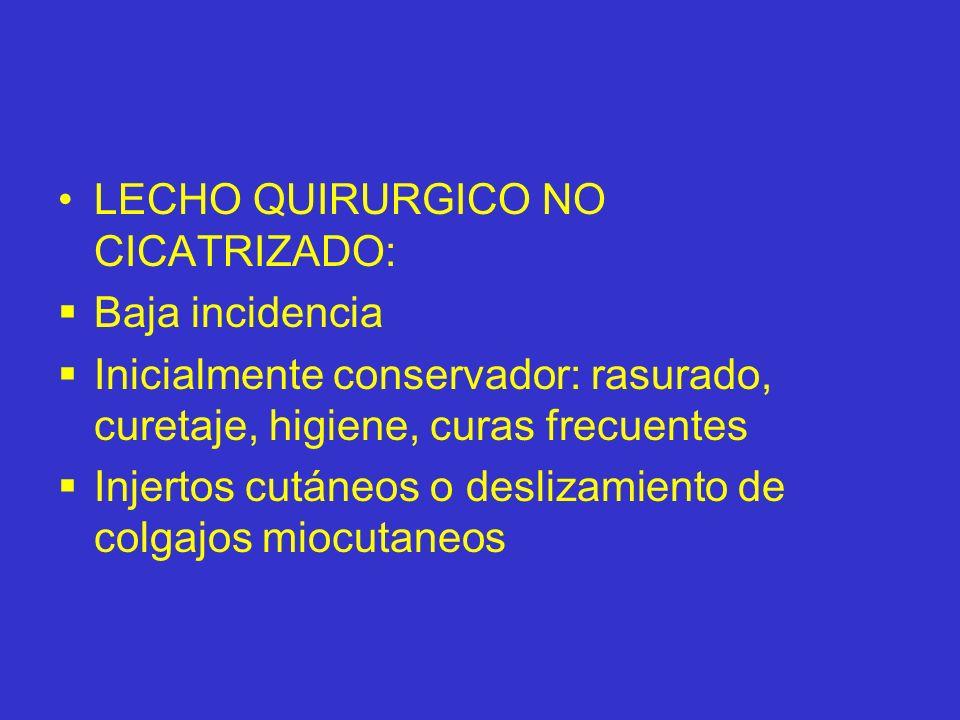 LECHO QUIRURGICO NO CICATRIZADO: