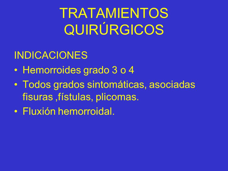 TRATAMIENTOS QUIRÚRGICOS