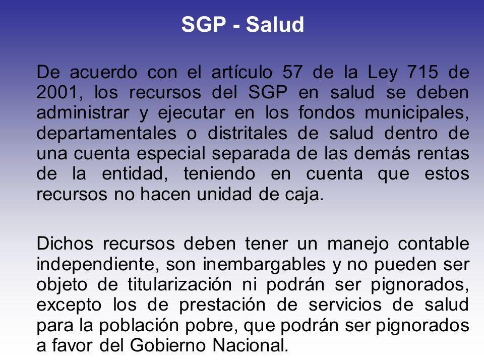 SGP - Salud