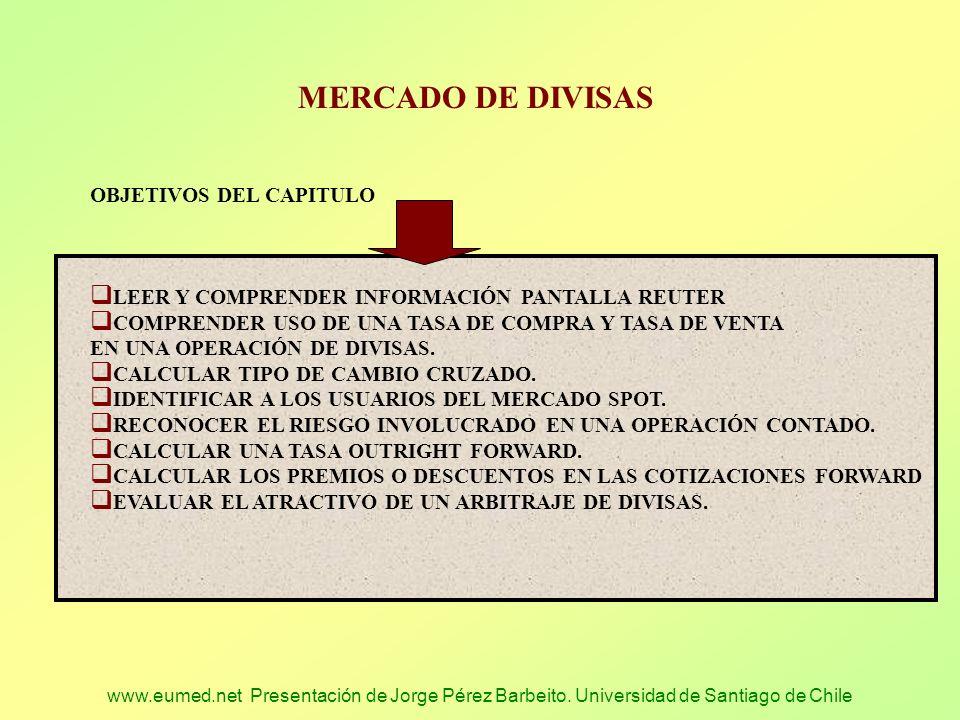 MERCADO DE DIVISAS OBJETIVOS DEL CAPITULO