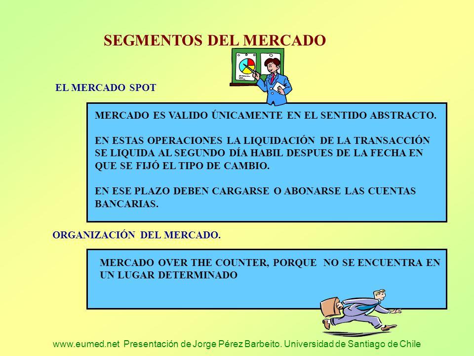 SEGMENTOS DEL MERCADO EL MERCADO SPOT
