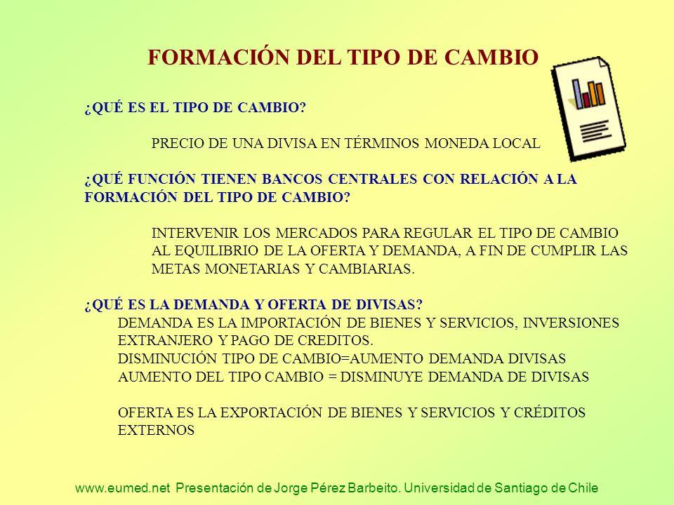 FORMACIÓN DEL TIPO DE CAMBIO