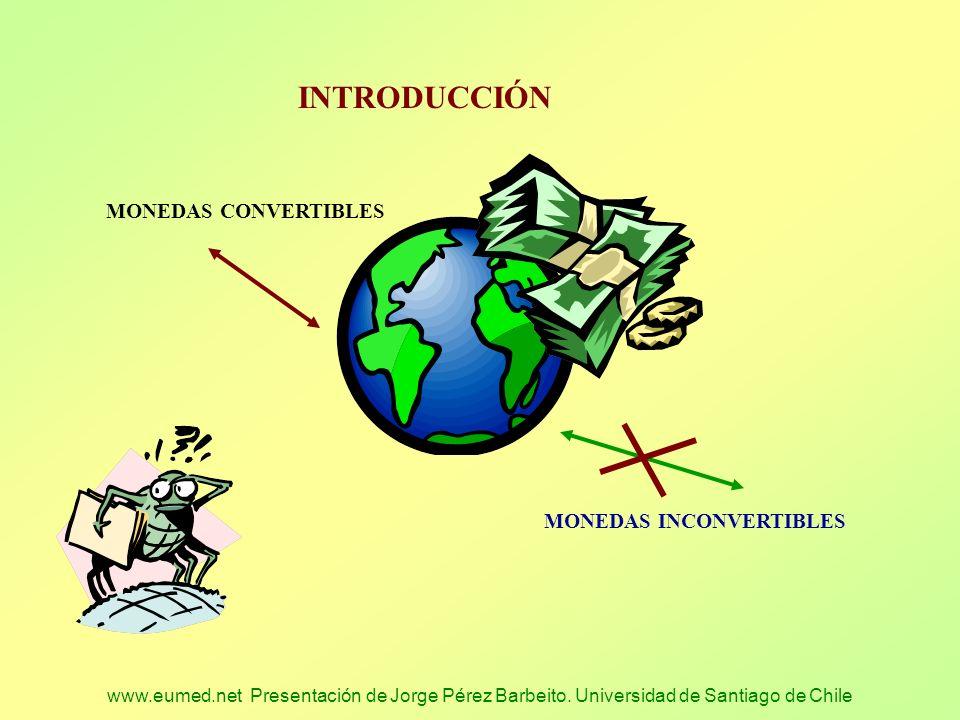 INTRODUCCIÓN MONEDAS CONVERTIBLES MONEDAS INCONVERTIBLES