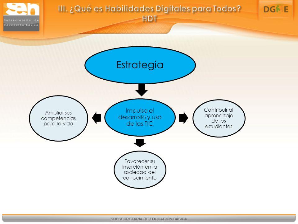III. ¿Qué es Habilidades Digitales para Todos HDT