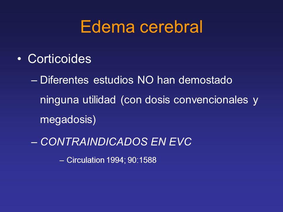 Edema cerebral Corticoides