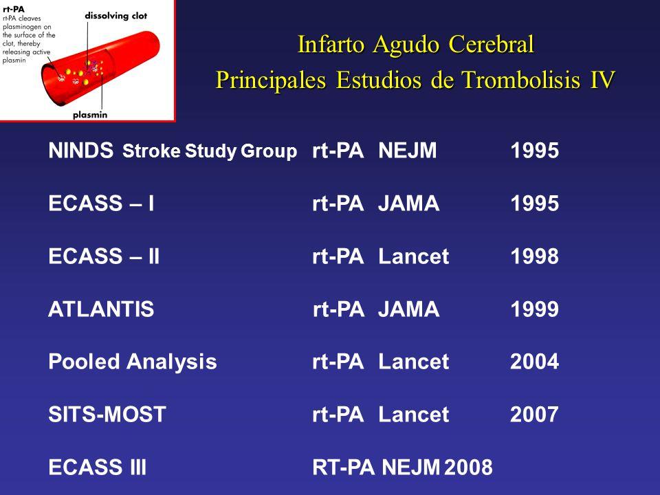 Infarto Agudo Cerebral Principales Estudios de Trombolisis IV