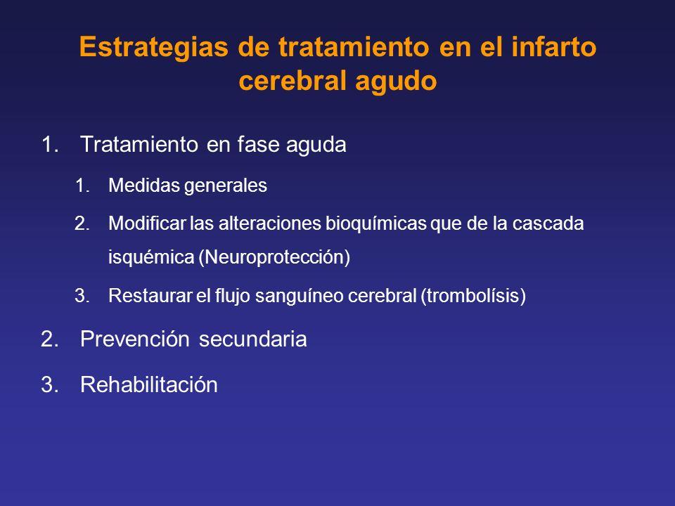 Estrategias de tratamiento en el infarto cerebral agudo