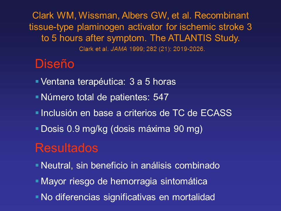 Clark WM, Wissman, Albers GW, et al