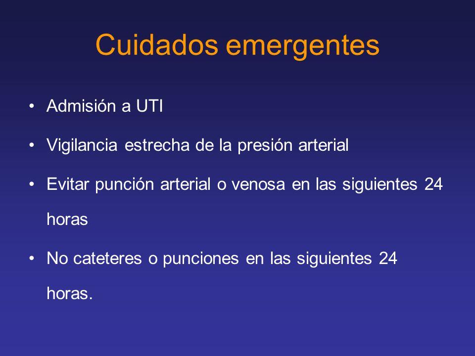 Cuidados emergentes Admisión a UTI