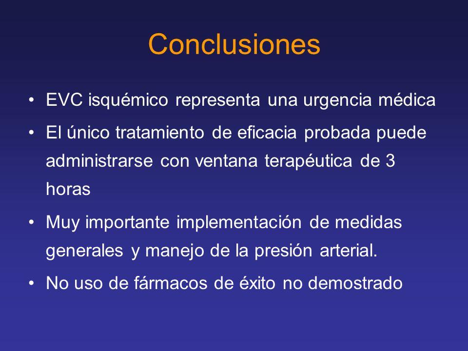 Conclusiones EVC isquémico representa una urgencia médica