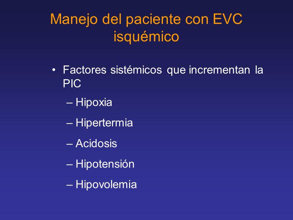 Manejo del paciente con EVC isquémico