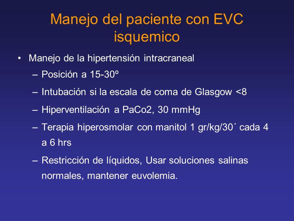 Manejo del paciente con EVC isquemico