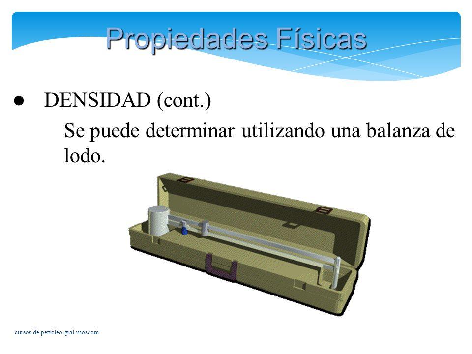 Propiedades Físicas DENSIDAD (cont.)