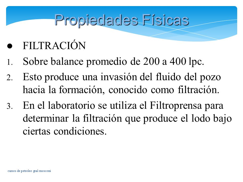Propiedades Físicas FILTRACIÓN