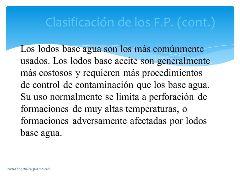Clasificación de los F.P. (cont.)