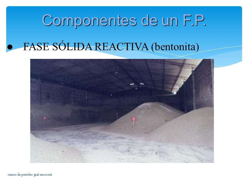 Componentes de un F.P. FASE SÓLIDA REACTIVA (bentonita)