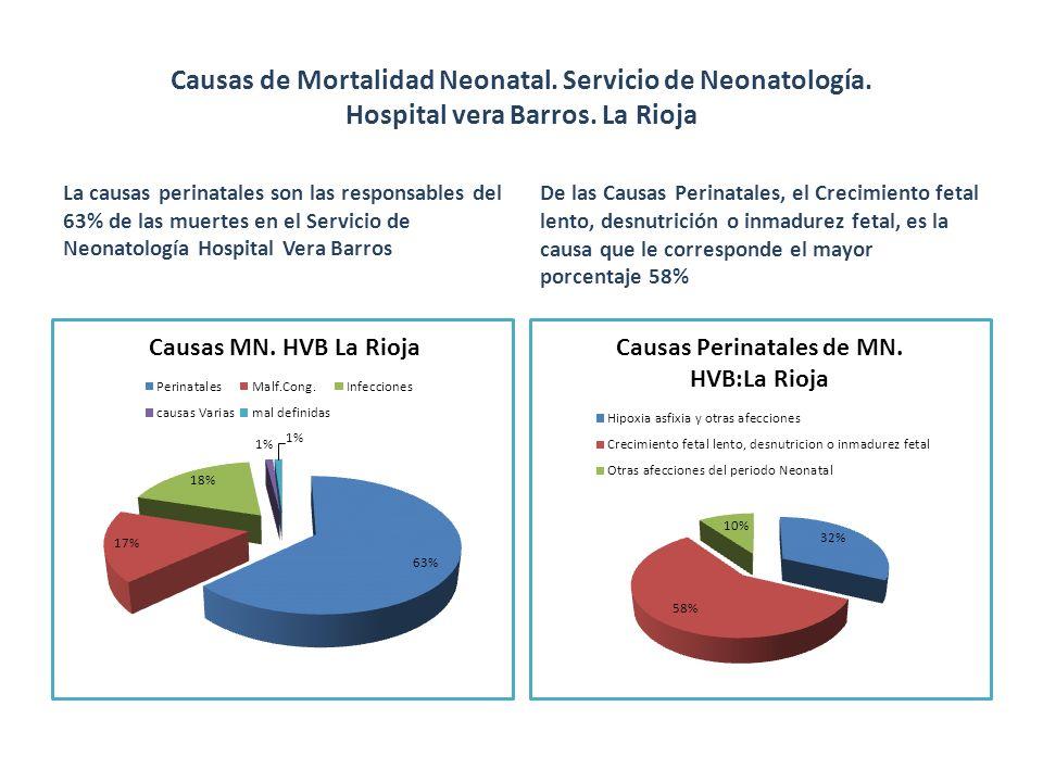 Causas de Mortalidad Neonatal. Servicio de Neonatología