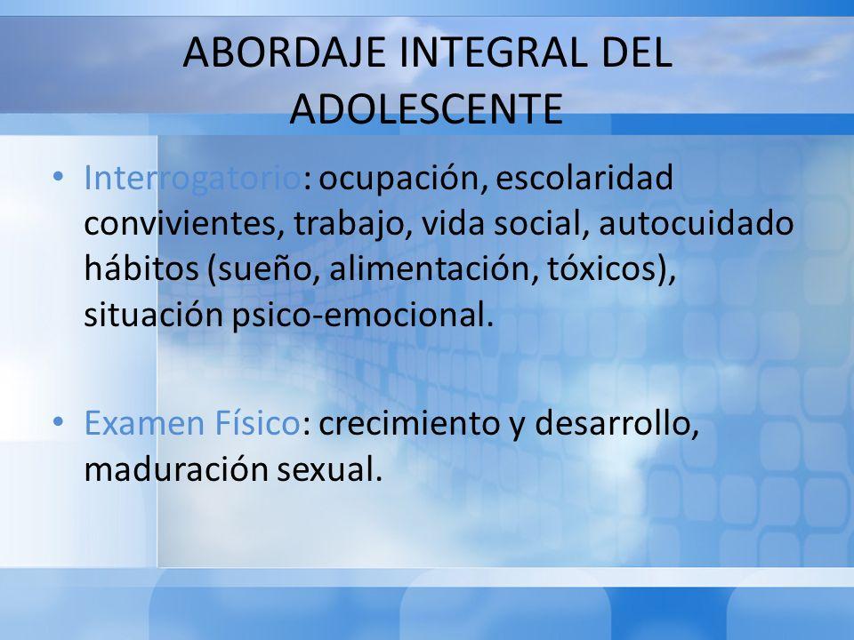 ABORDAJE INTEGRAL DEL ADOLESCENTE
