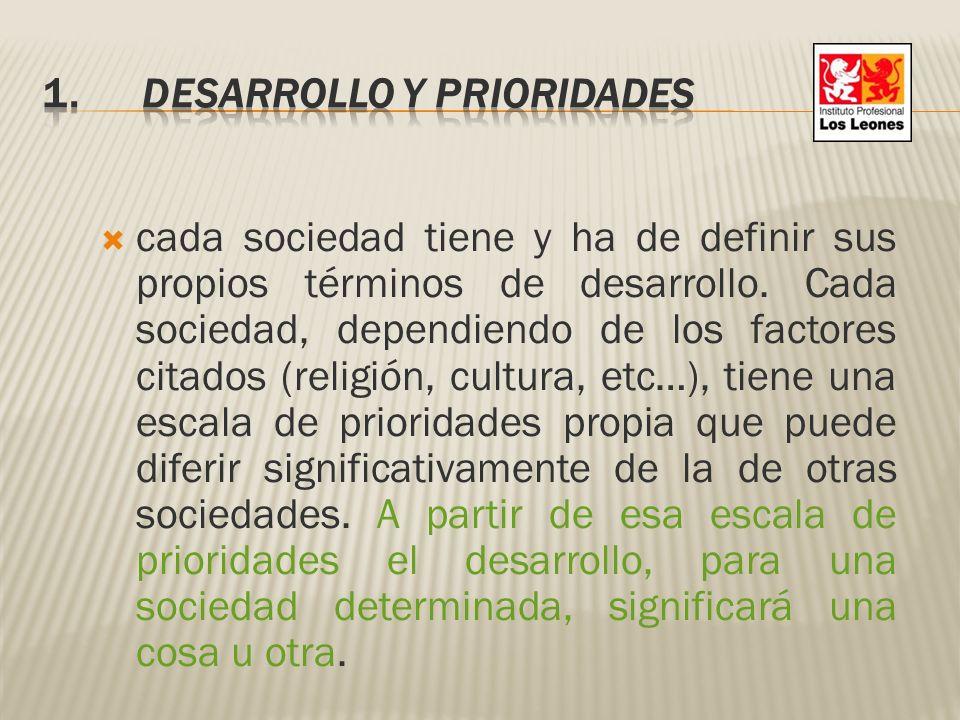1. Desarrollo y prioridades