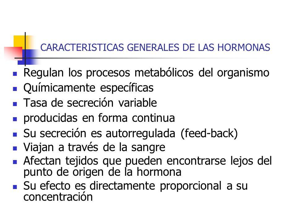 CARACTERISTICAS GENERALES DE LAS HORMONAS