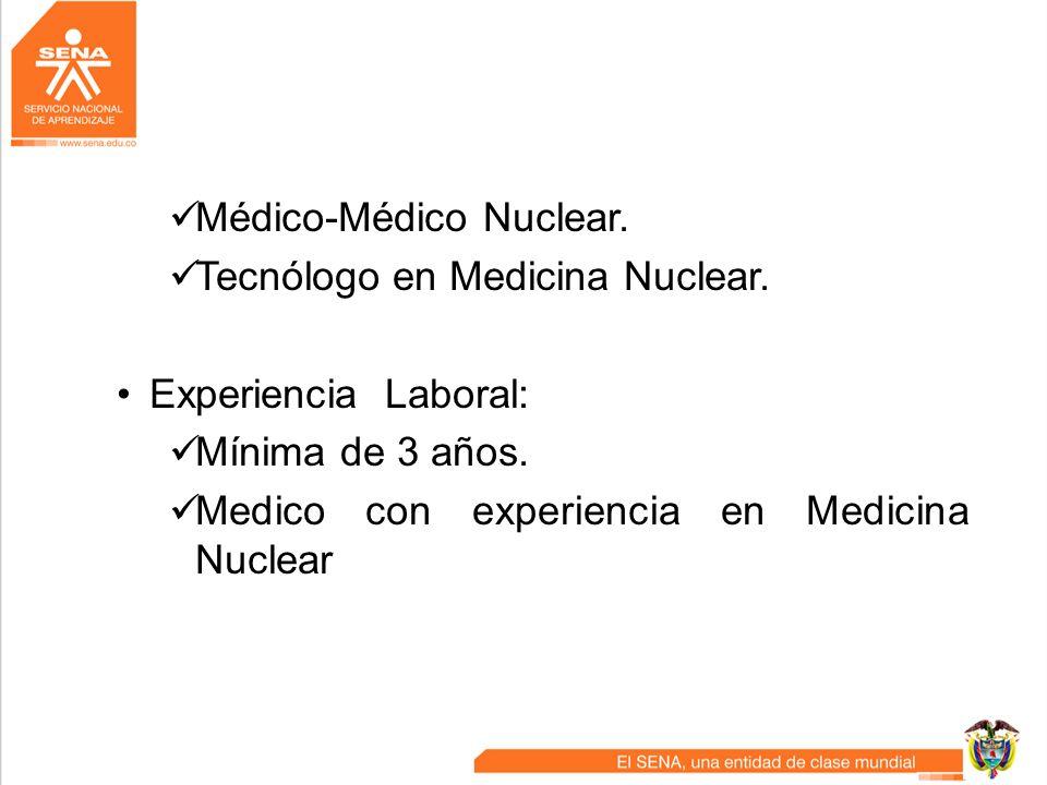 Médico-Médico Nuclear.