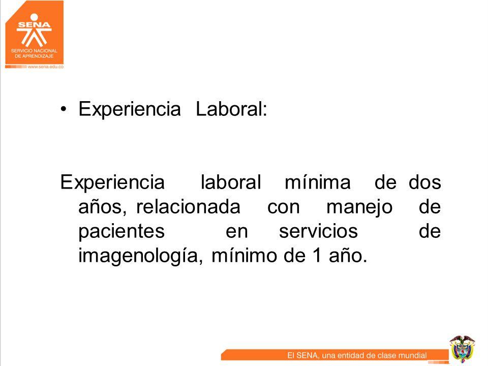 Experiencia Laboral: