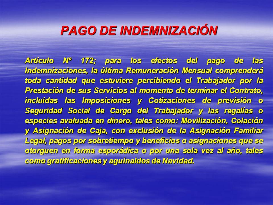 PAGO DE INDEMNIZACIÓN