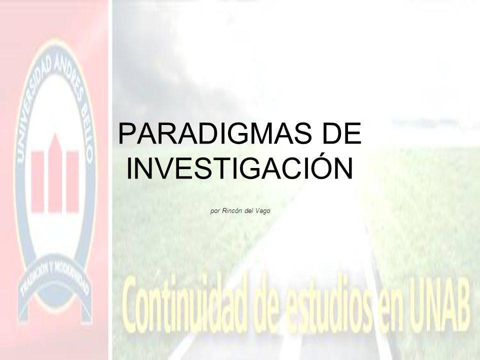 PARADIGMAS DE INVESTIGACIÓN