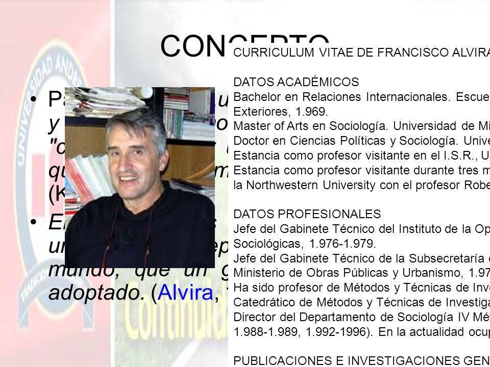 CONCEPTO CURRICULUM VITAE DE FRANCISCO ALVIRA. DATOS ACADÉMICOS.