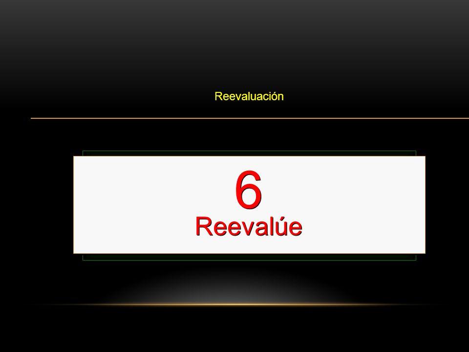 6 Reevalúe Reevalúe el ABC Esto se hace cada 2 minutos o 5 ciclos