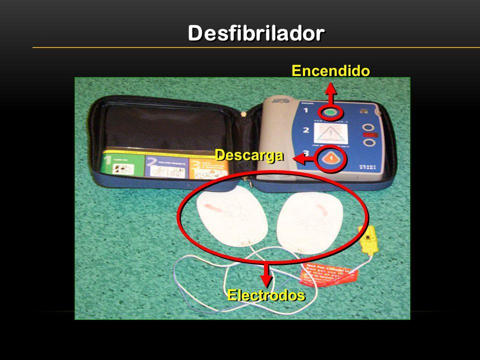 Desfibrilador Encendido Descarga Electrodos