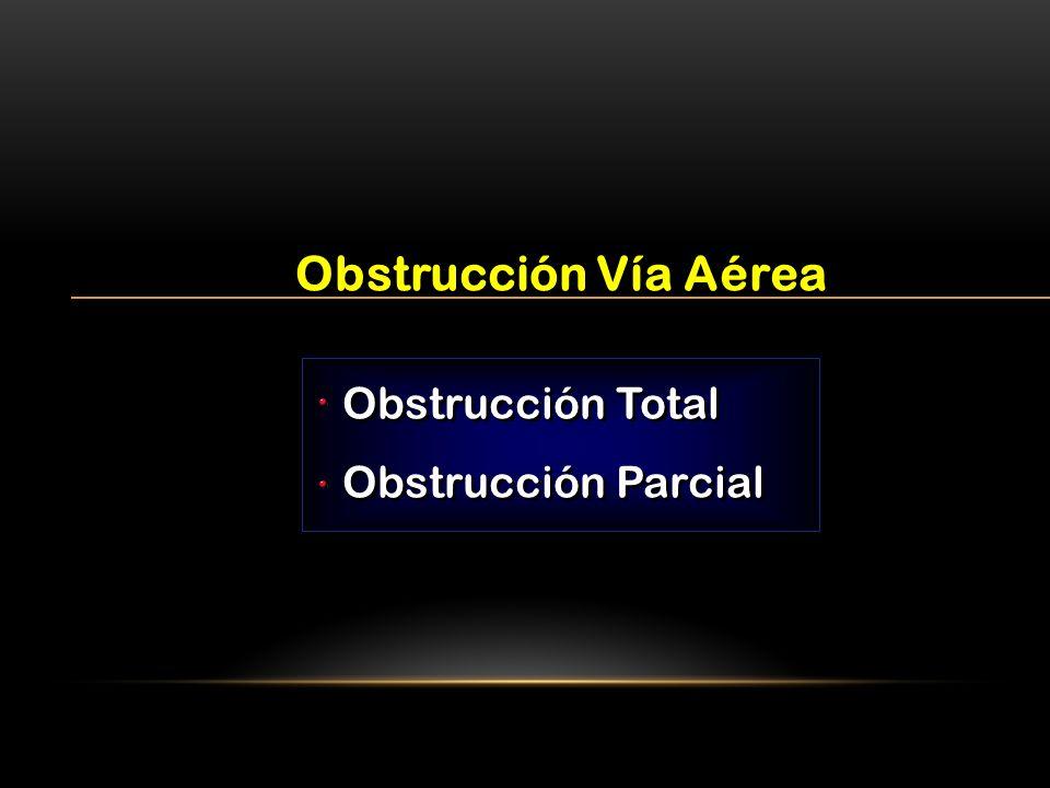 Obstrucción Vía Aérea Obstrucción Total Obstrucción Parcial