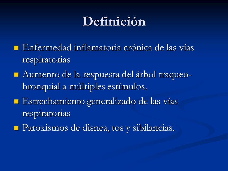 Definición Enfermedad inflamatoria crónica de las vías respiratorias
