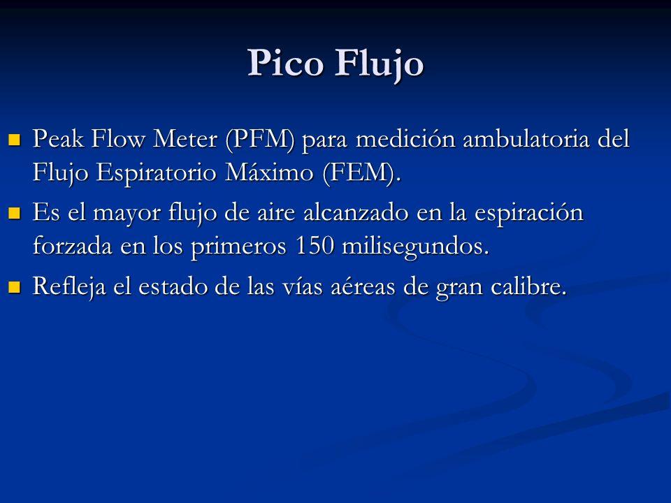 Pico FlujoPeak Flow Meter (PFM) para medición ambulatoria del Flujo Espiratorio Máximo (FEM).