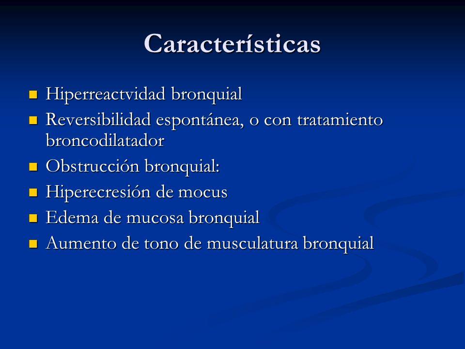 Características Hiperreactvidad bronquial