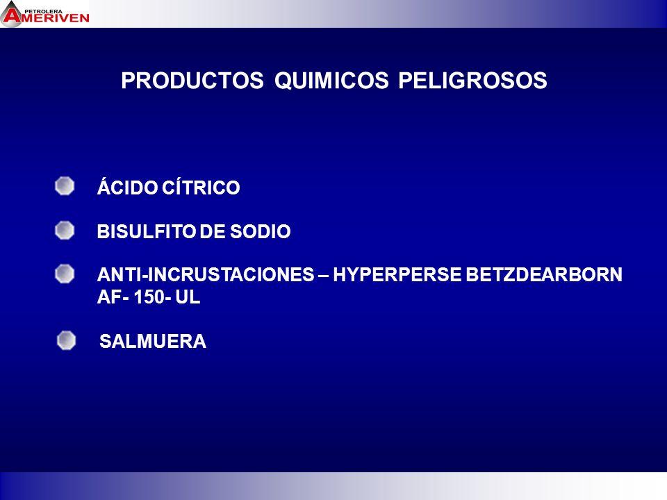 PRODUCTOS QUIMICOS PELIGROSOS