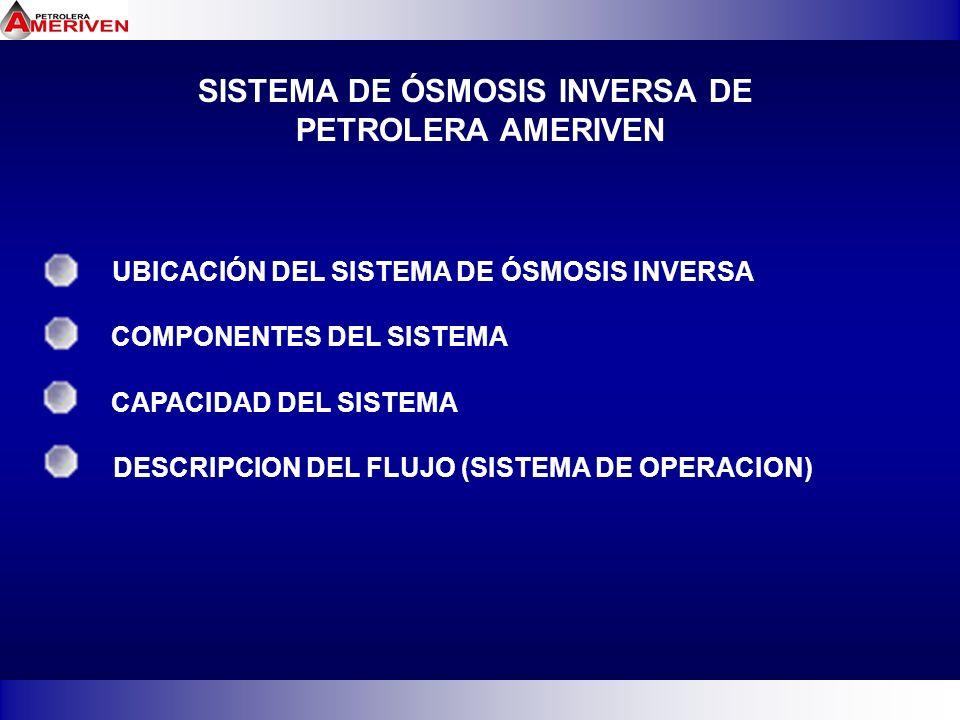 SISTEMA DE ÓSMOSIS INVERSA DE