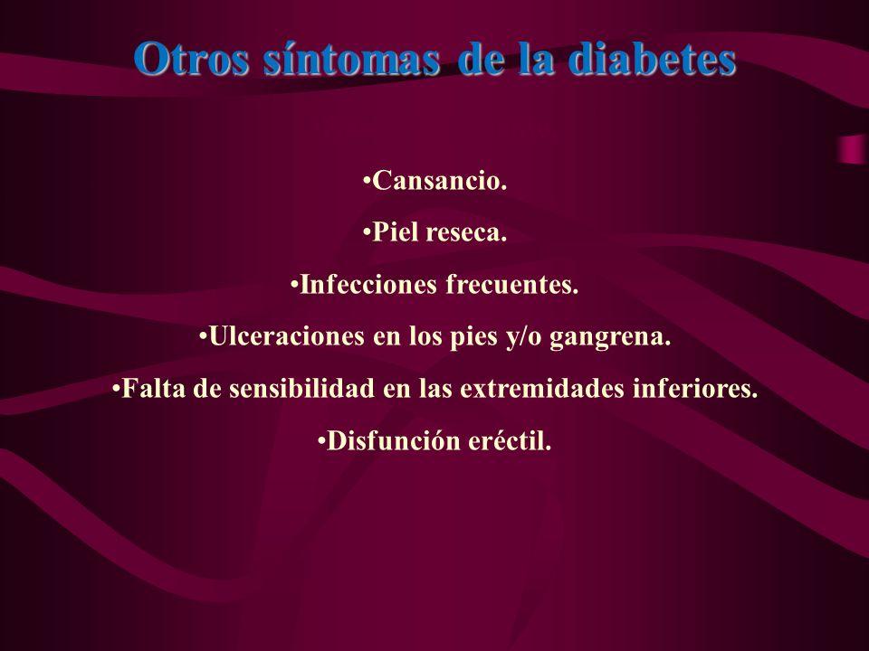 Otros síntomas de la diabetes