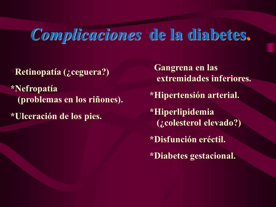 Complicaciones de la diabetes.